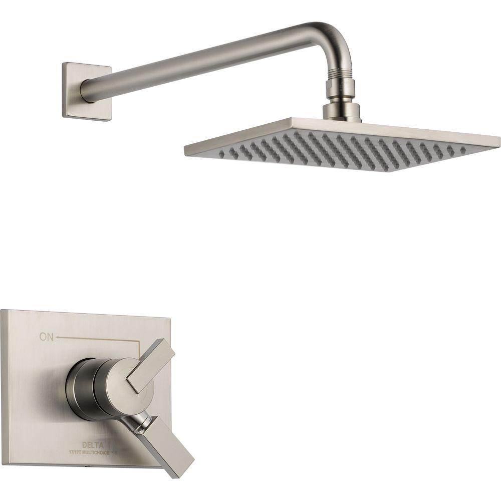 Delta Vero 1-Handle Shower Only Faucet Trim Kit in Stainless (Valve Not Included)