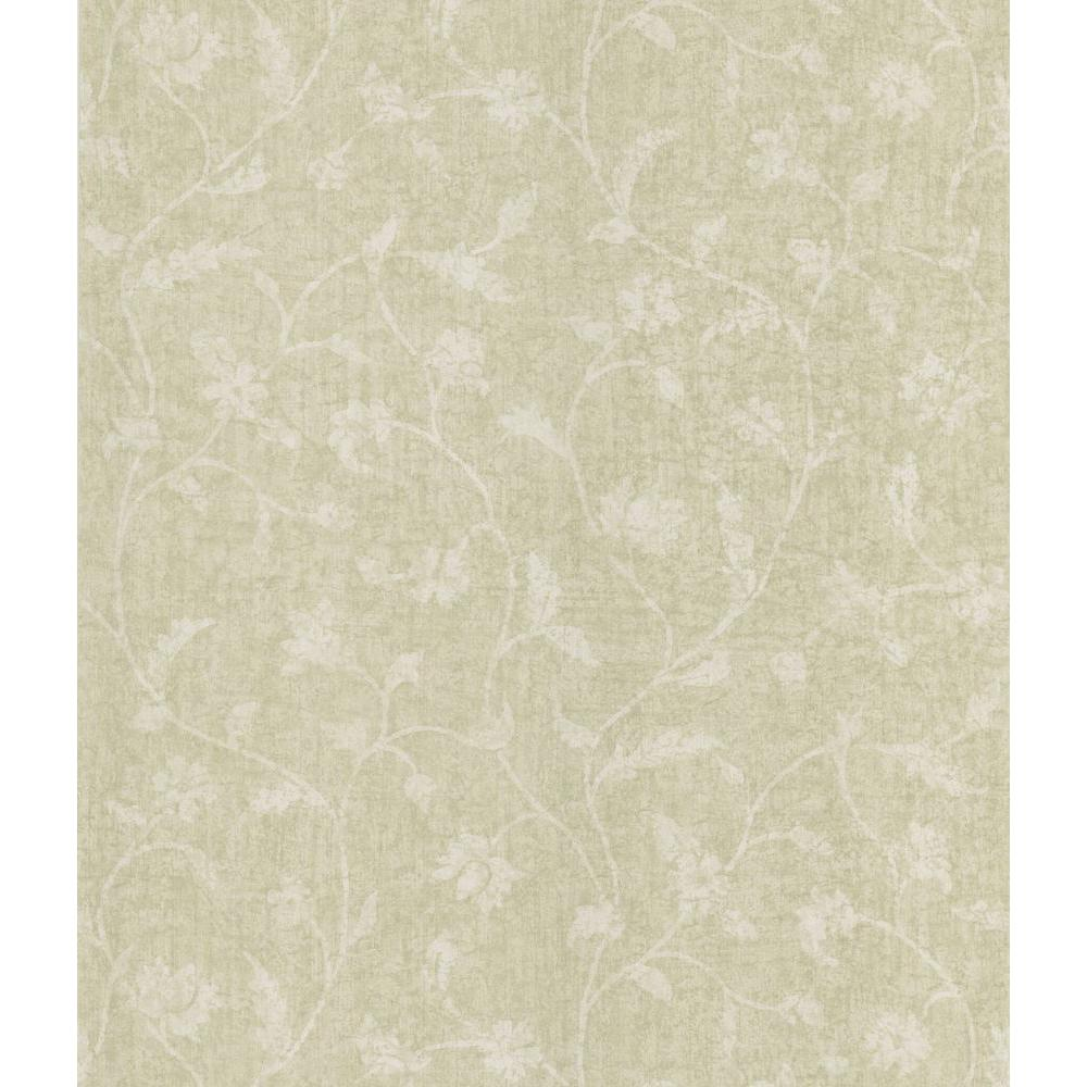 Batik Floral Trail Wallpaper