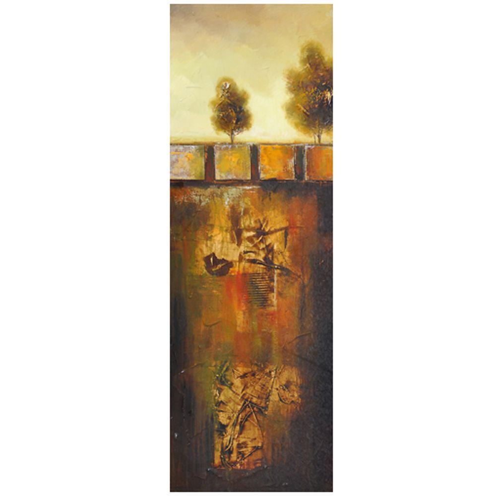 Yosemite Home Decor 15.5 in. x 47 in. Golden Oak I Hand Painted Contemporary Artwork