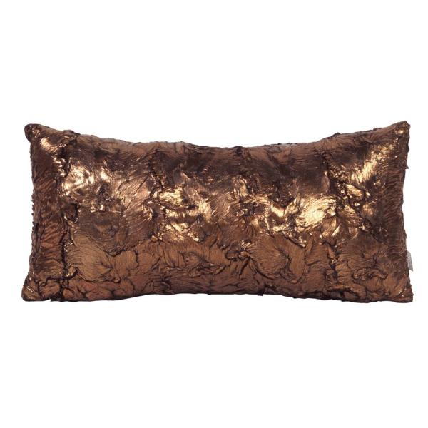 Gold Cougar Yellows and Golds Solid Polyester 2 in. x 22 in. Throw Pillow