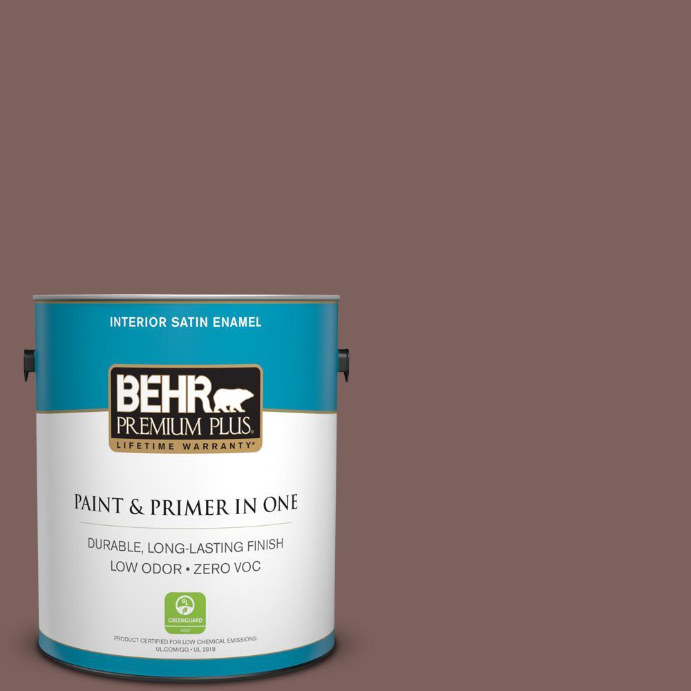 BEHR Premium Plus 1-gal. #N130-6 River Rocks Satin Enamel Interior Paint