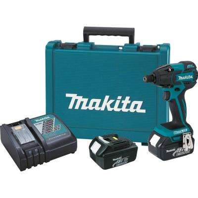 18-Volt LXT Lithium-Ion Brushless 1/4 in. Cordless Impact Driver Kit with (2) Batteries 3.0Ah, Charger, Hard Case