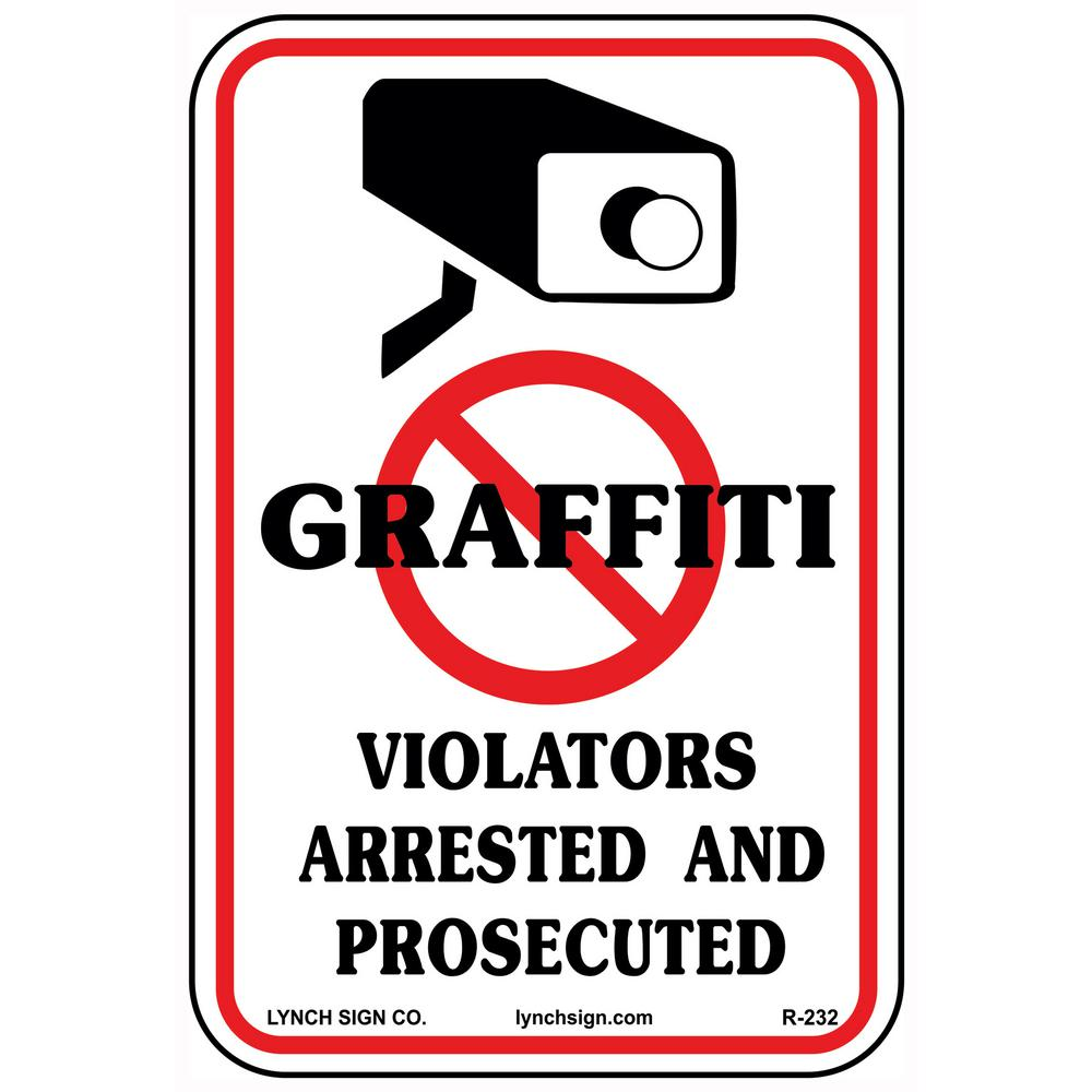 10 in. x 14 in. No Graffiti Sign Printed on More