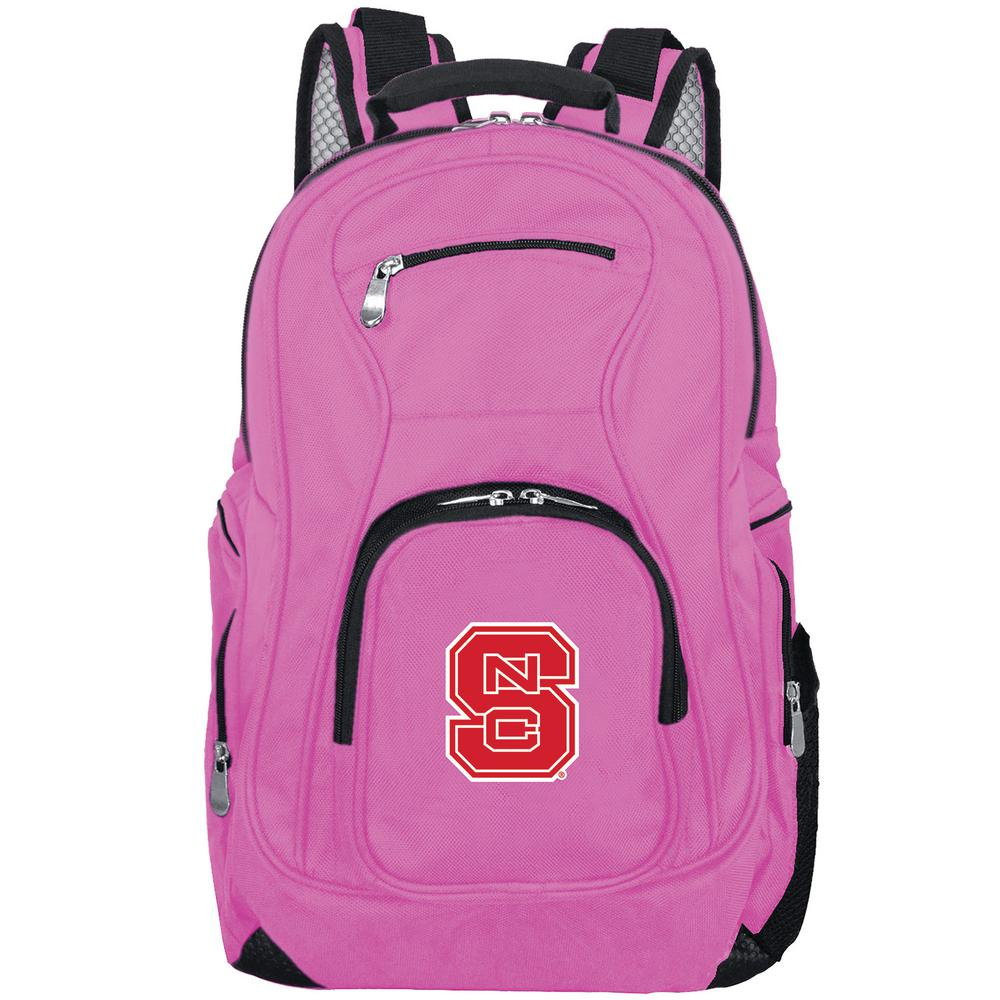 NCAA NC State Wolfpack 19 in. Pink Backpack Laptop