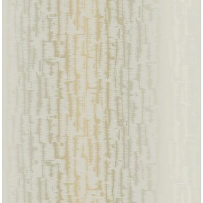 Koi Metallic Silver and Off-White Texture Wallpaper