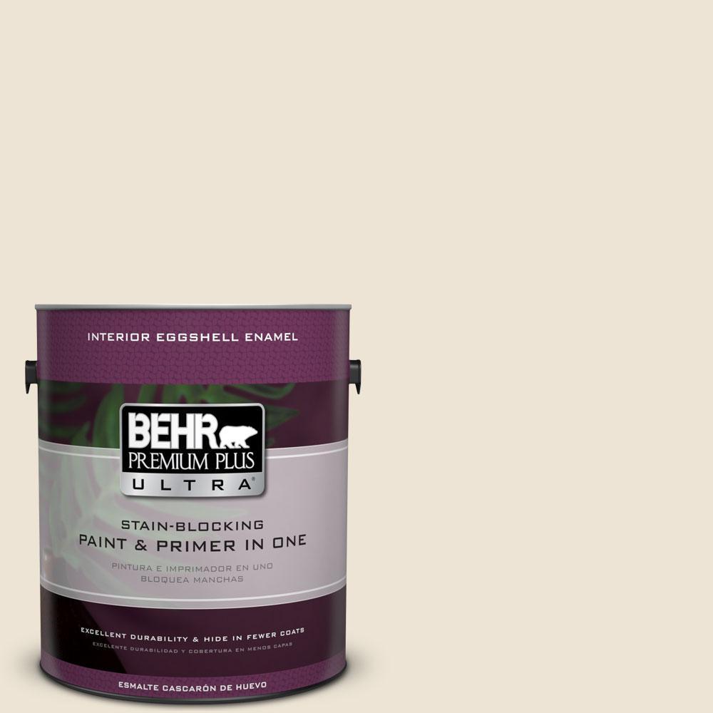 BEHR Premium Plus Ultra 1-gal. #T14-3 Miami Weiss Eggshell Enamel Interior Paint