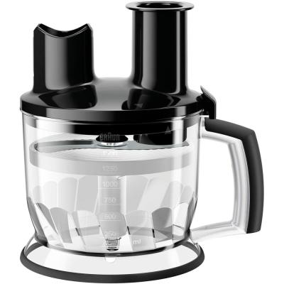 6-Cup Black Food Processor Attachment for MultiQuick Hand Blenders