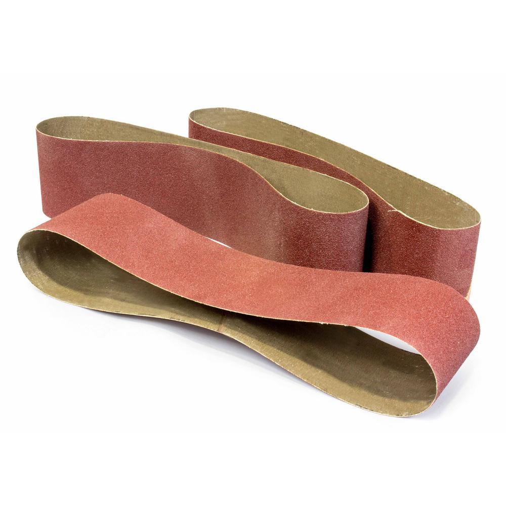 6 in. x 48 in. 80-Grit Belt Sander Sandpaper (3-Pack)