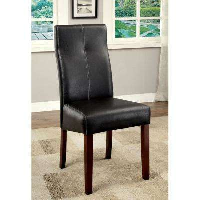 Bonneville I  Brown Cherry and Black Contemporary Style Side Chair