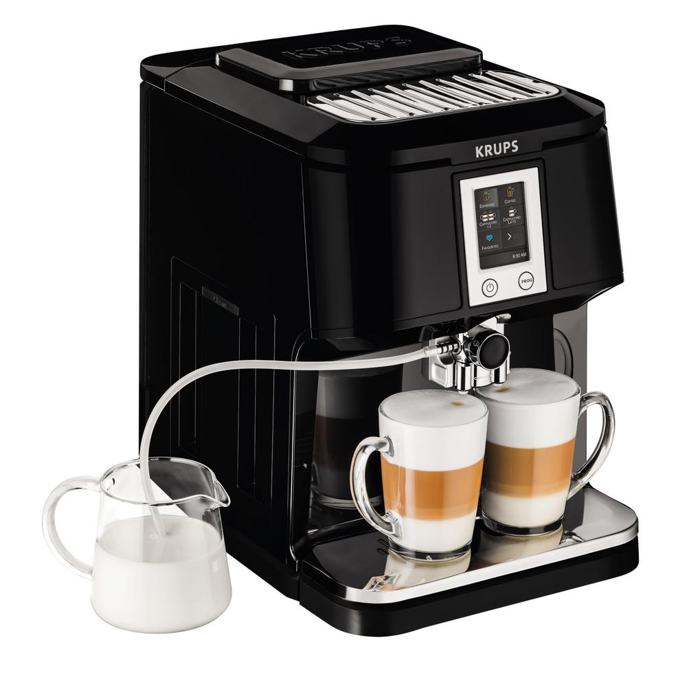 krups 2 in 1 espresso and cappuccino machine ea880851 the home depot. Black Bedroom Furniture Sets. Home Design Ideas