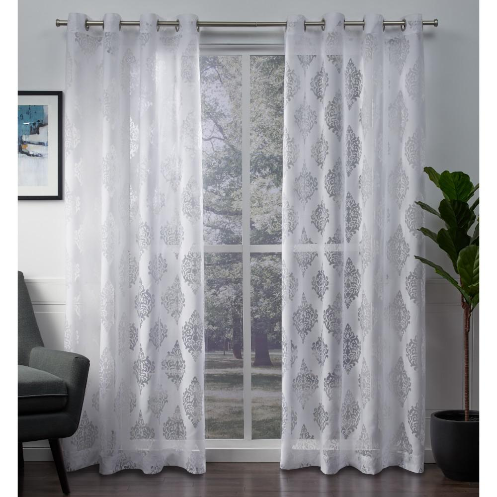 Sheer Grommet Top Curtain Panel