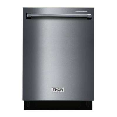 24 in. Built-In Top Control Dishwasher in Black Stainless Steel, 45 dBA