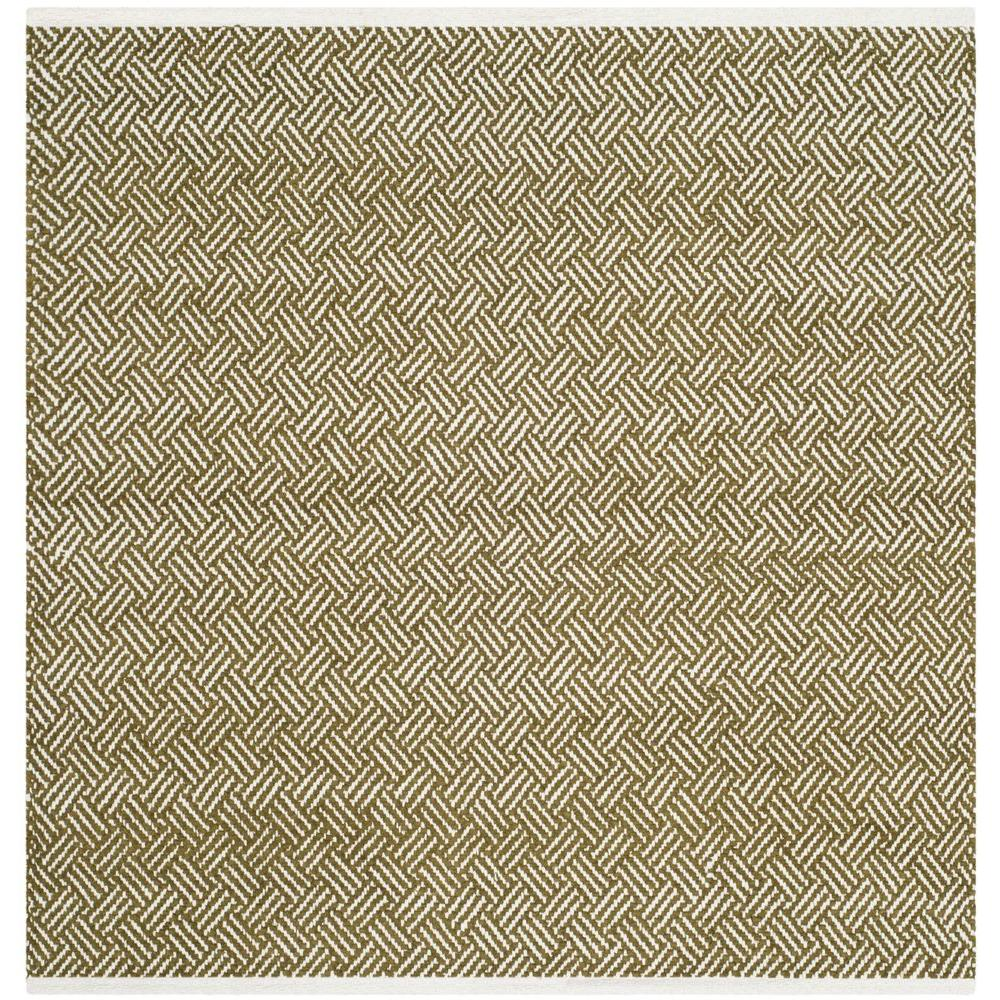Boston Olive 4 ft. x 4 ft. Square Area Rug