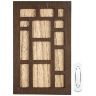 Brown Wood Wireless Door Chime Kit