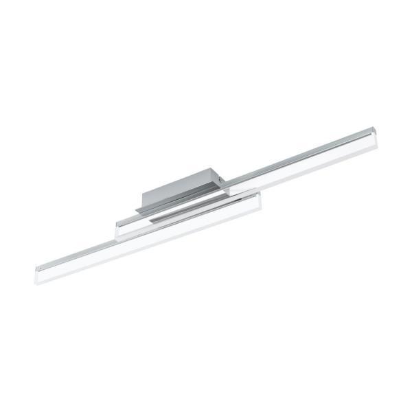 Palmital 1 Collection 34.625 in. 2-Light Chrome Integrated LED Flush Mount