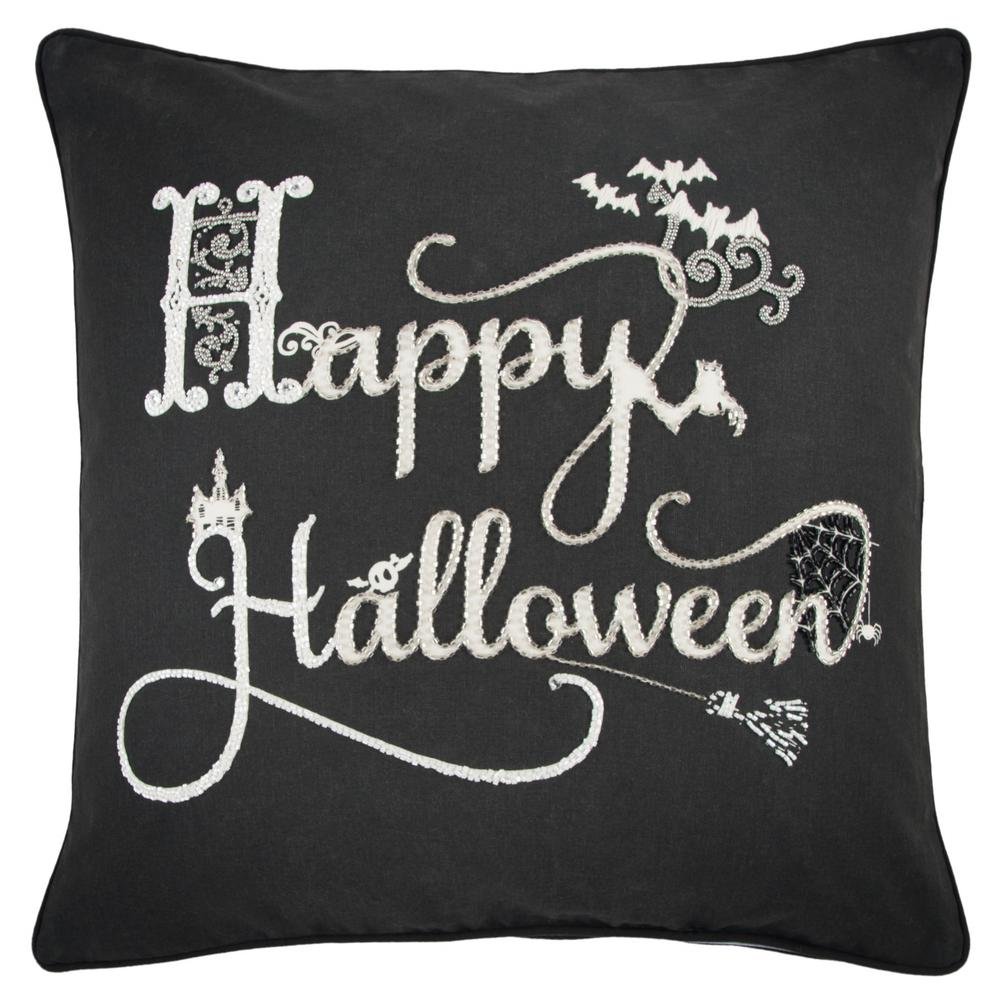 rizzy home happy halloween 20 in. x 20 in. decorative filled pillow