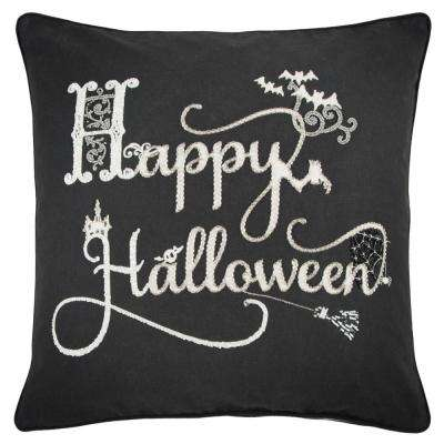 Happy Halloween 20 in. x 20 in. Decorative Filled Pillow