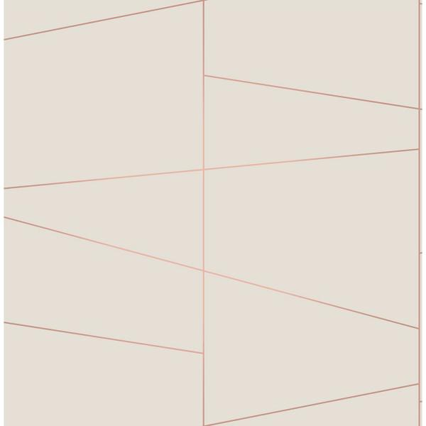 Brewster 8 in. x 10 in. Fairmont Eggshell Deco Fracture Wallpaper