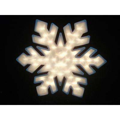 20 in. Lighted Snowflake Christmas Window Silhouette Decoration (4-Pack)