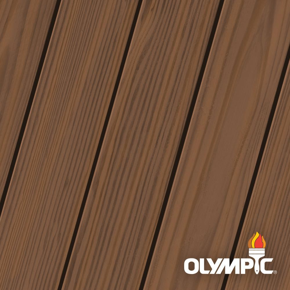 Olympic Maximum 1 gal. Walnut (Brown) Semi-Transparent Exterior Stain and Sealant in One -  OLY708-01