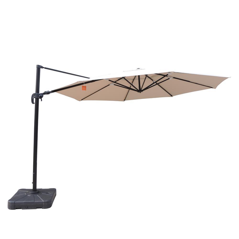 Victoria 13 ft. Octagonal Cantilever Patio Umbrella in Beige Sunbrella Acrylic