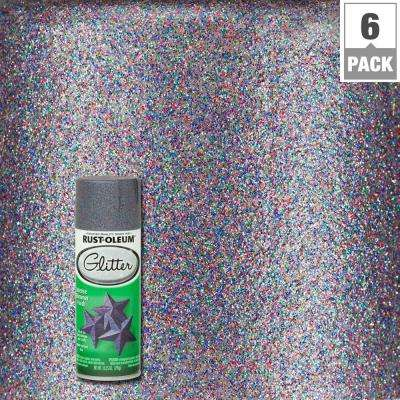 10.25 oz. Purple Glitter Spray Paint (6-Pack)