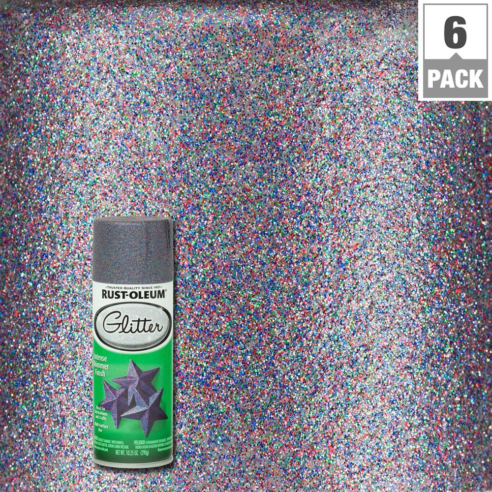 a267413b Rust-Oleum Specialty 10.25 oz. Purple Glitter Spray Paint (6-Pack)-278073 -  The Home Depot