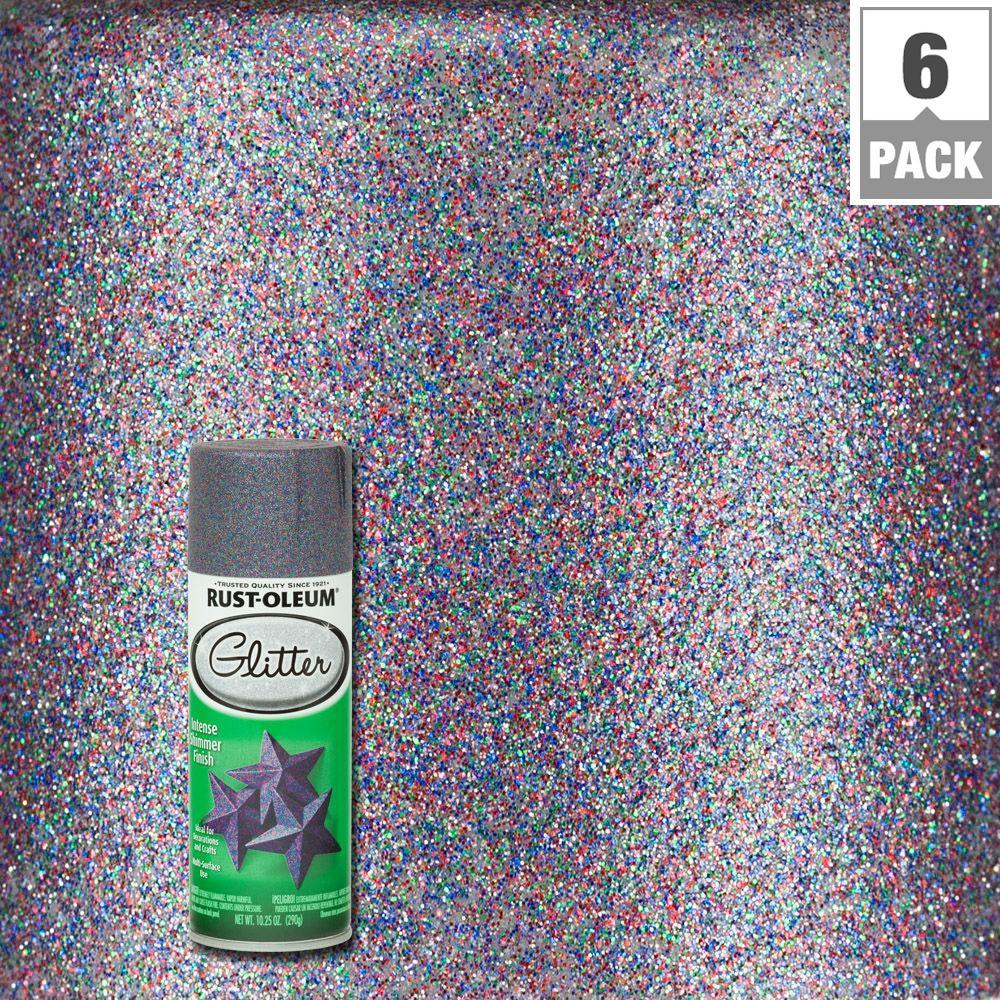 10.25 oz. Purple Glitter Spray Paint (6-Pack)
