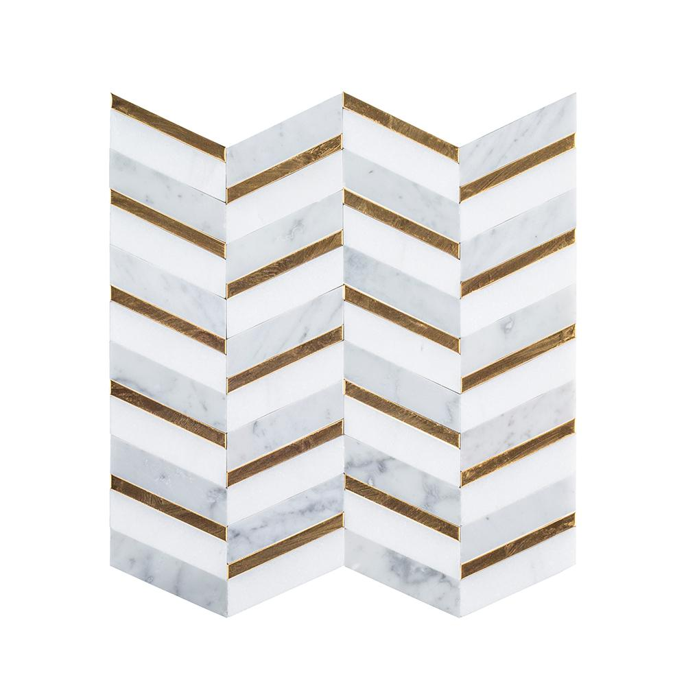 - Jeffrey Court Dreamcicle White 11.75 In. X 12.75 In. X 8 Mm