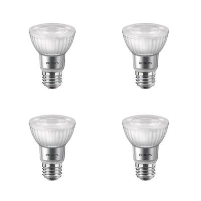 50-Watt Equivalent PAR20 Dimmable LED with Warm Glow Dimming Effect Flood Light Bulb Bright White (4-Pack)