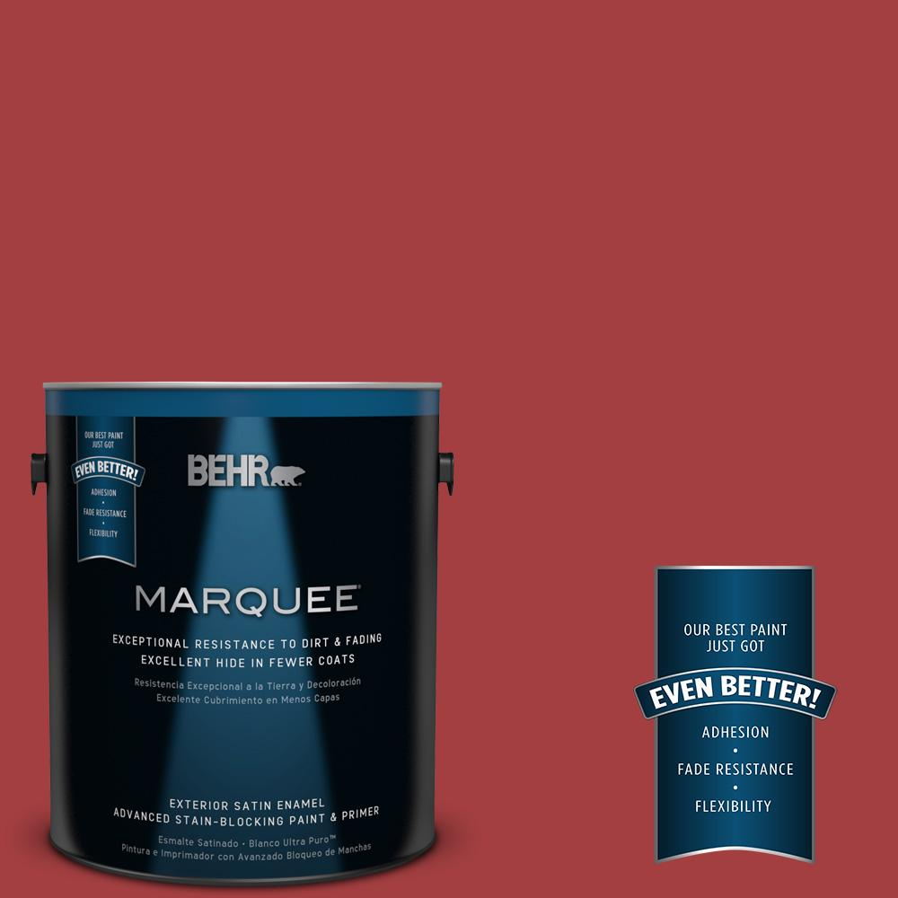 BEHR MARQUEE 1-gal. #P140-7 No More Drama Satin Enamel Exterior Paint