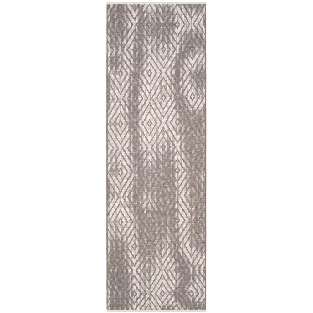 Montauk Gray/Ivory 2 ft. x 9 ft. Runner Rug