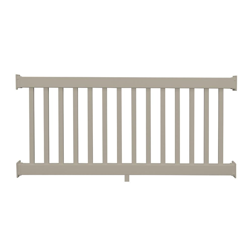 Naples 36 in. x 96 in. Khaki Vinyl Straight Railing Kit