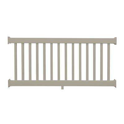 Naples 3 ft. H x 8 ft. W Khaki Vinyl Railing Kit
