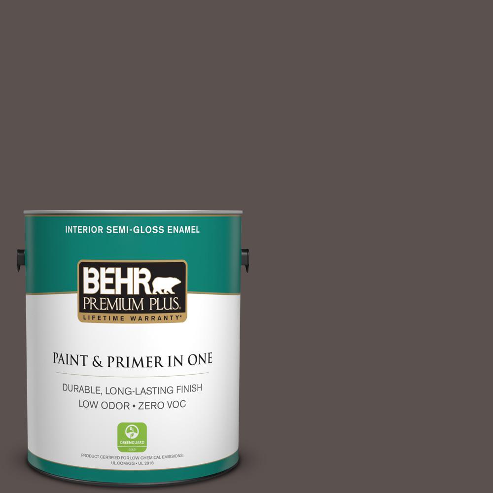 1-gal. #790B-6 Stone Hearth Zero VOC Semi-Gloss Enamel Interior Paint