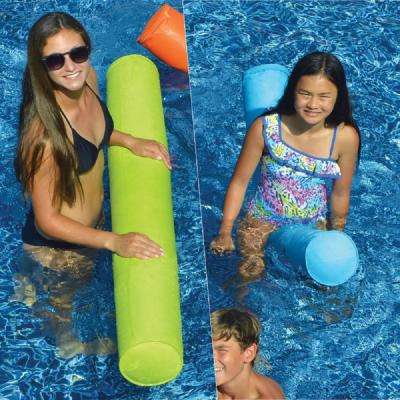 SunSoft Blue and Lime Green Swimming Pool Doodles Combo (2-Pack)