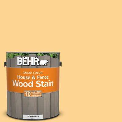 1 gal. #310B-4 Cornmeal Solid Color House and Fence Exterior Wood Stain