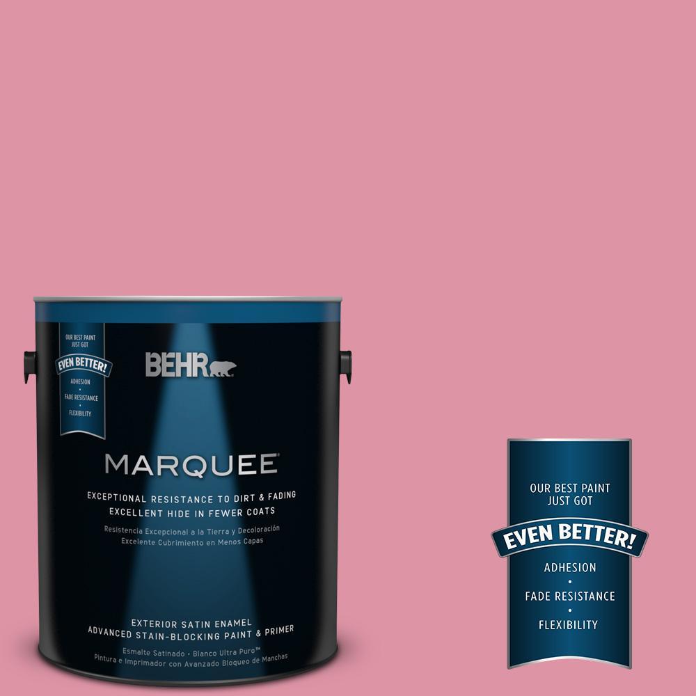 BEHR MARQUEE 1-gal. #120C-3 Rose Marquis Satin Enamel Exterior Paint