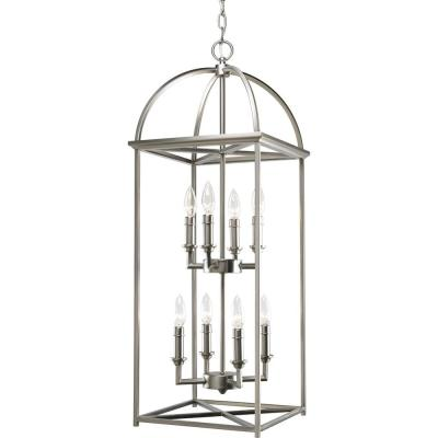 Piedmont Collection 8-Light Burnished Silver Foyer Pendant