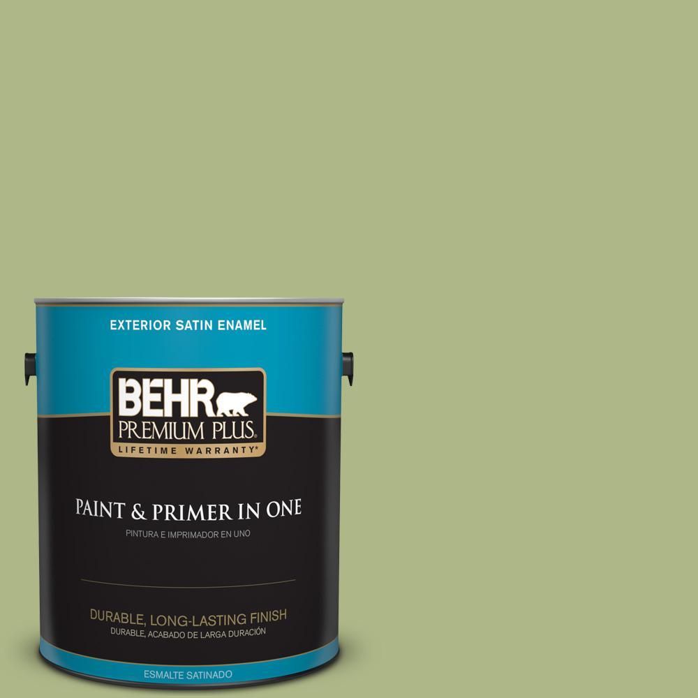 1 gal. #PPU10-07 Lima Green Satin Enamel Exterior Paint