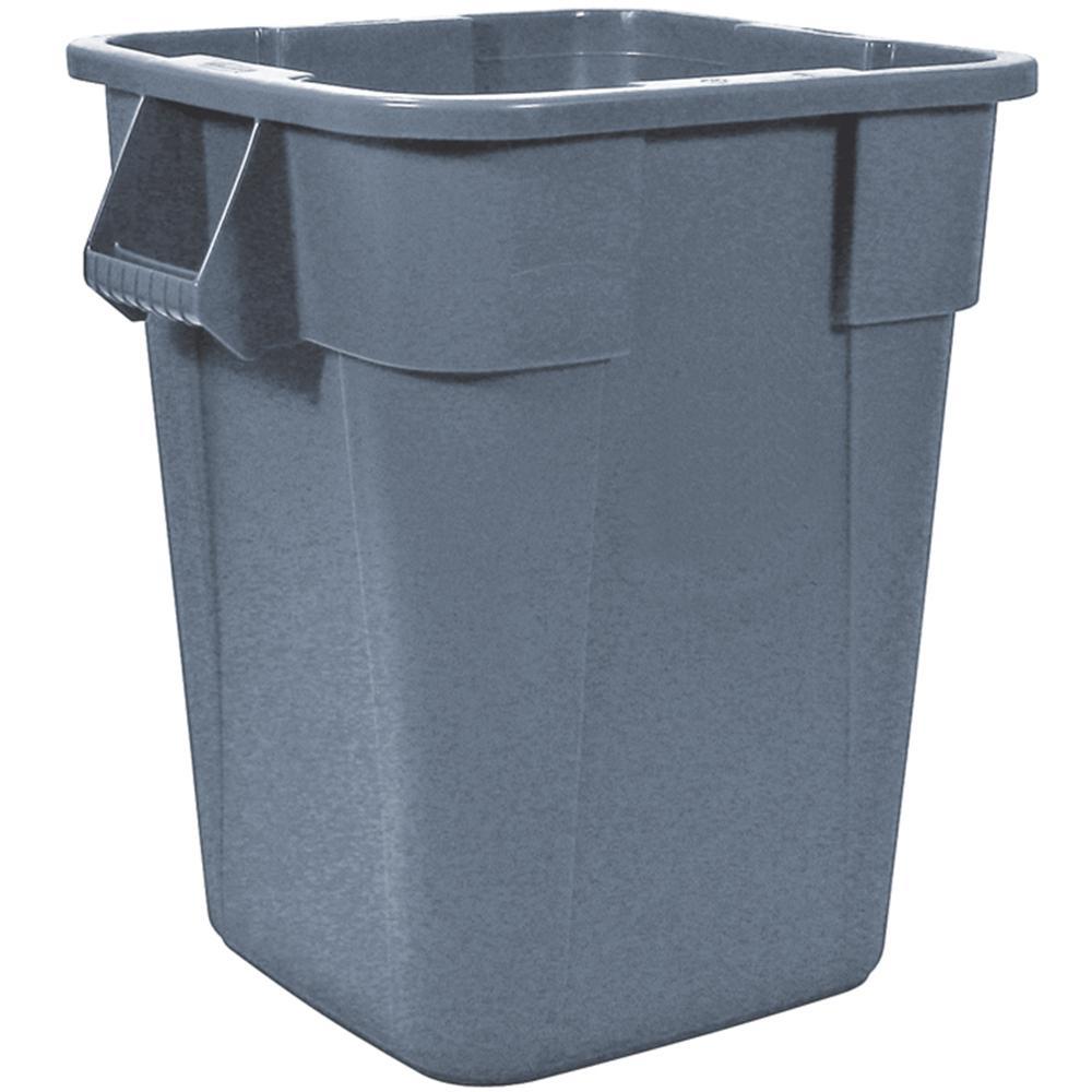 Brute 40 Gal. Gray Square Plastic Trash Can