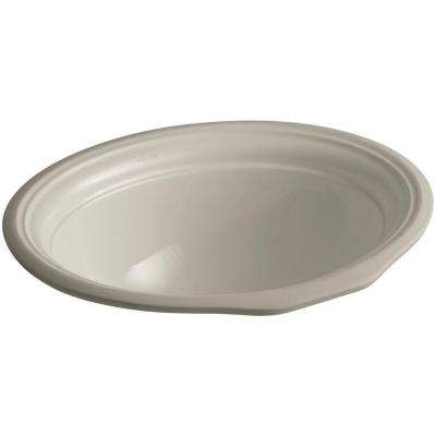 Devonshire Vitreous China Undermount Bathroom Sink in Sandbar with Overflow Drain