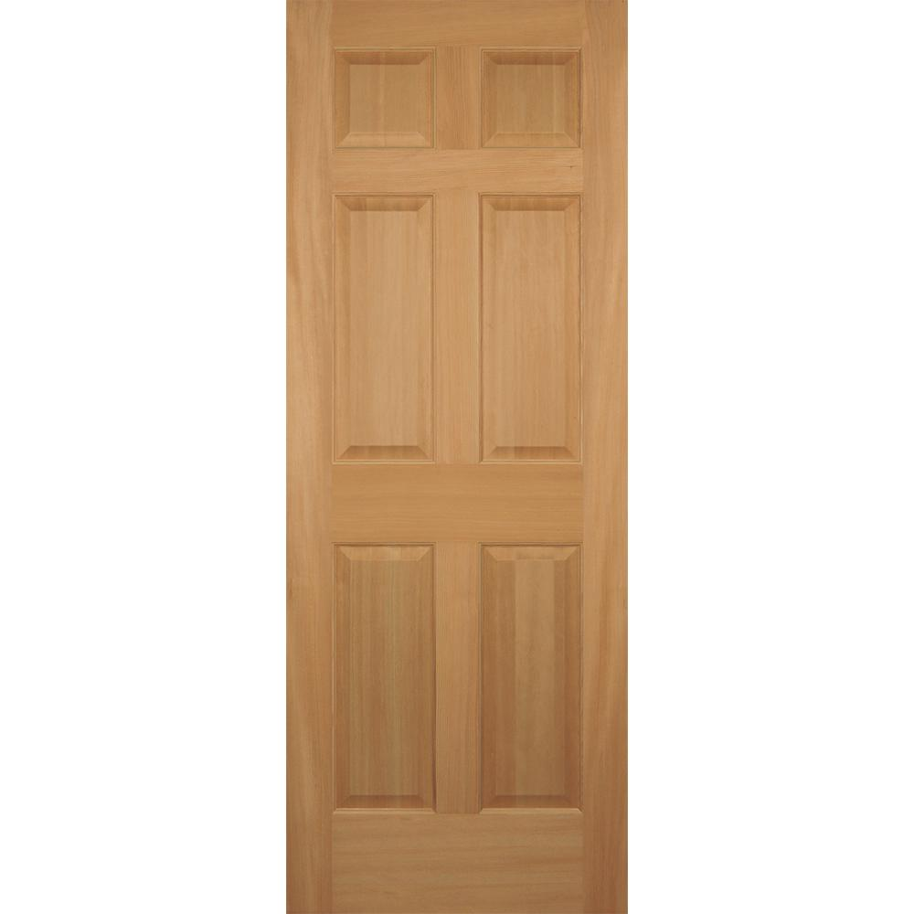 32 in. x 80 in. Hemlock 6-Panel Interior Door Slab