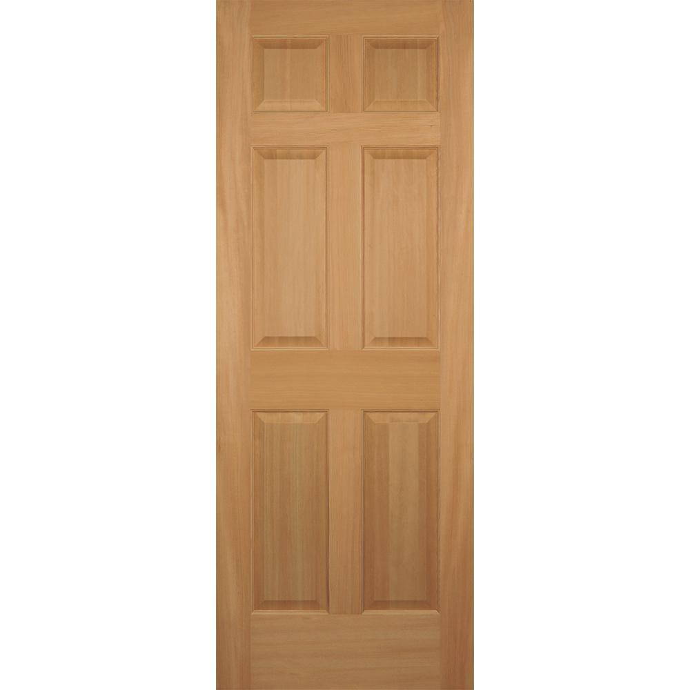 32 in. x 80 in. Hemlock 6-Panel Interior Door Slab