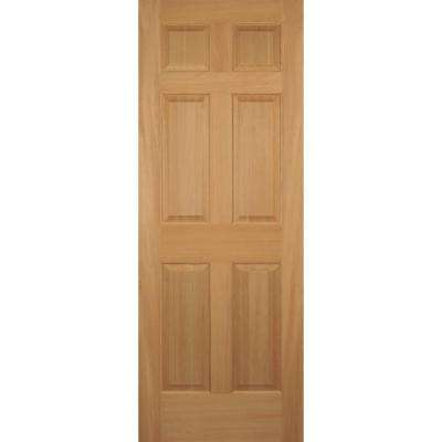 28 in. x 80 in. Hemlock 6-Panel Interior Door Slab