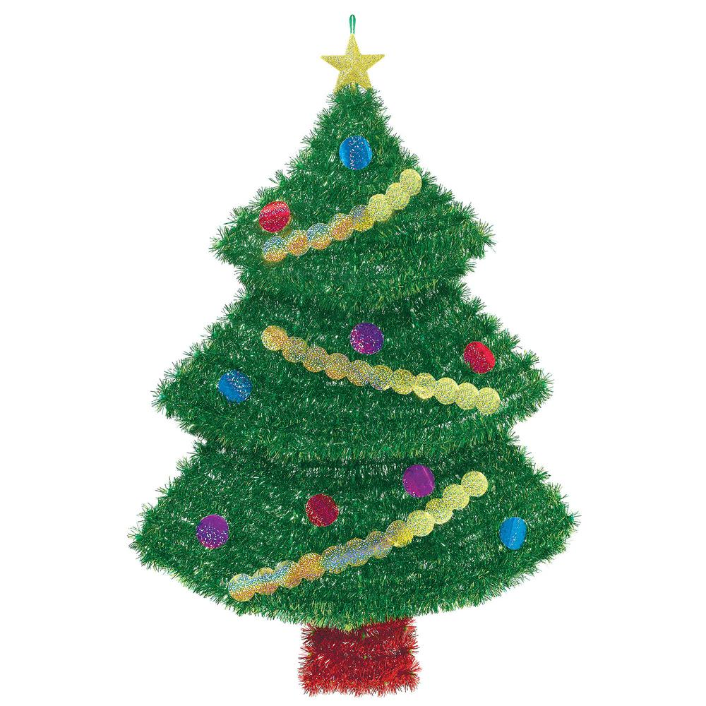 Christmas Tree Tinsel.Amscan 22 In X 16 In X 2 9 In Deluxe Tree Tinsel Decoration 2 Pack