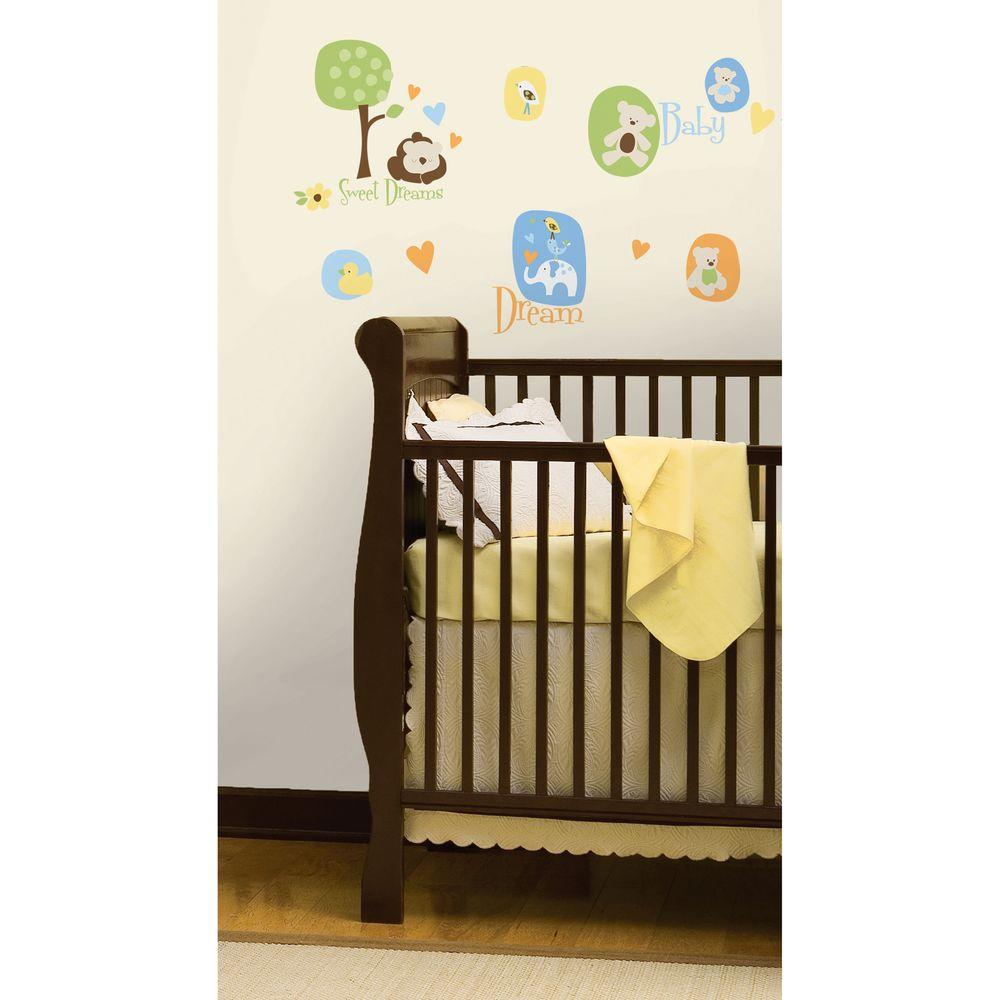 RoomMates Modern Baby Peel Stick Wall DecalRMKSCS The - Nursery wall decals home depot