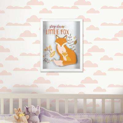 8 in. x 10 in. Stay Clever Little Fox 1-Piece Shadowbox with Raised Shape