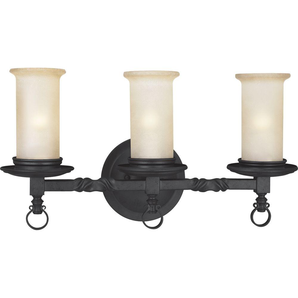 progress lighting santiago collection 3 light forged black 12094