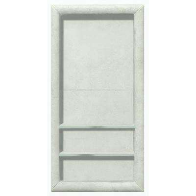 Full Tile 12 in. x 4 in. x 24 in. Shower Niche in Natural Buff
